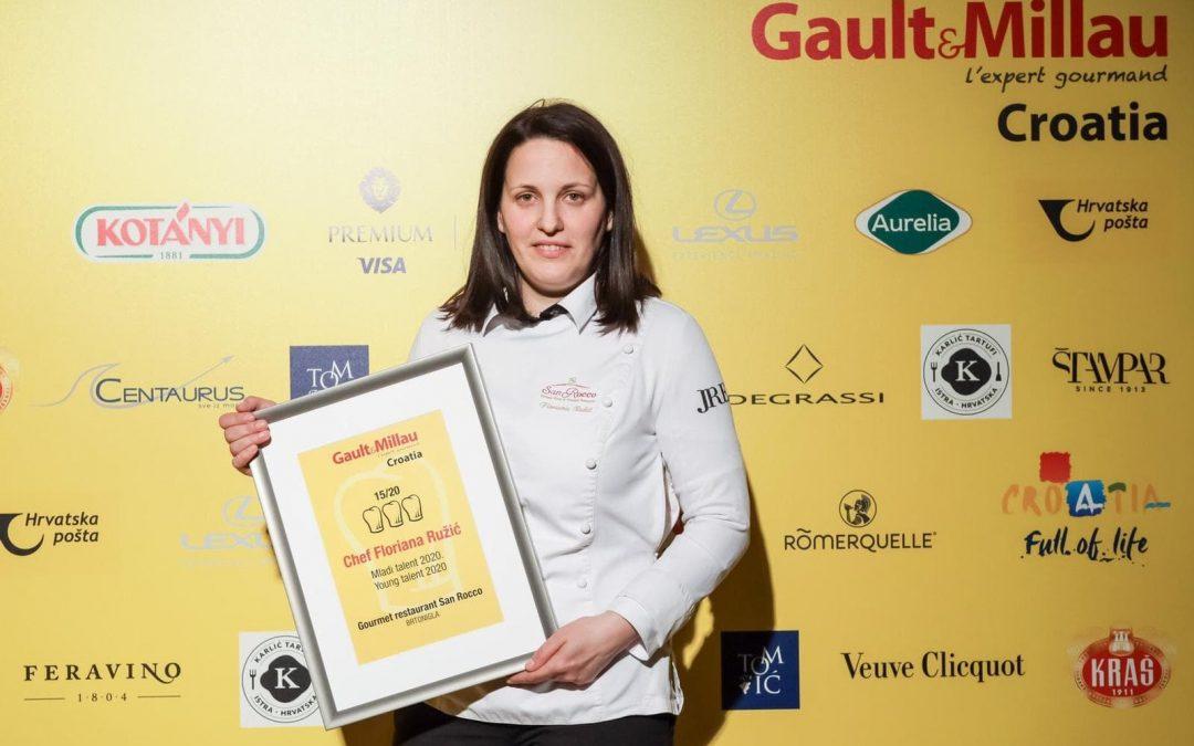 Chef Floriana Ružić – Gault&Millau međunarodno priznanje i trofej  odnijela u restoran San Rocco